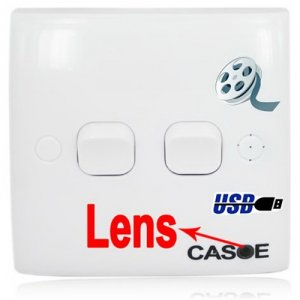 Power Switch Hidden Camera for Home Security Support TF Card and PC Connecting